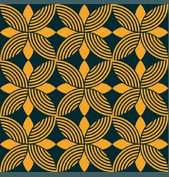 seamless floral ornamental emblem pattern vector image
