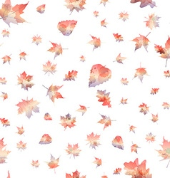seamless pattern of autumn leaves vector image vector image