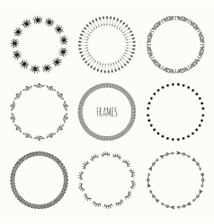 Set of hand drawn vintage retro hipster pattern vector image