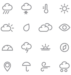 Set weather icons vector image vector image