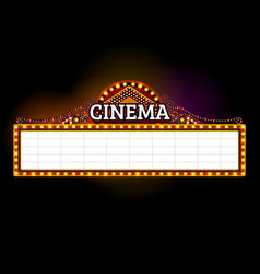 theater sign vector image vector image