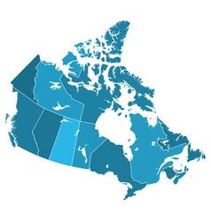 Canada regions map vector image
