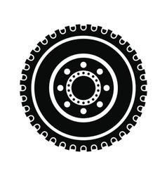 Car wheel black simple icon vector image