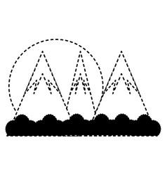 cartoon alps landscape vector image