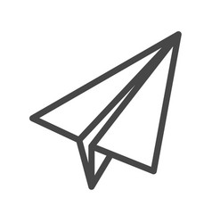 paper airplane thin line icon vector image
