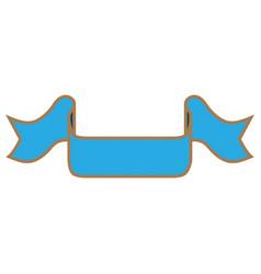 ribbon blue sign 201 vector image vector image