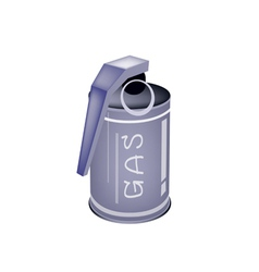 A Tear Gas Grenade on White Background vector image vector image
