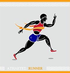 Athlete runner vector image vector image