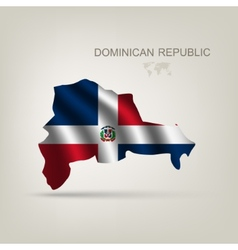 Flag of the Dominican Republic as a country vector image vector image