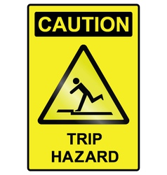 Trip hazard Sign vector image