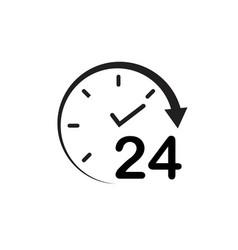 24 hour icon design vector image