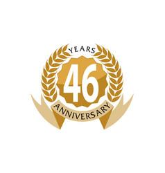 46 years ribbon anniversary vector
