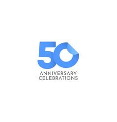 50 years anniversary celebration logo icon vector