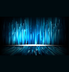 abstract 3d digital technology blue light concept vector image