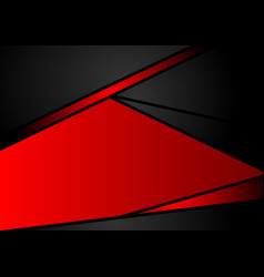 abstract geometric black and red color background vector image