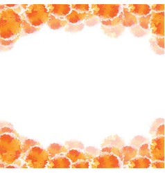 Abstract orange hand drawn watercolor background vector