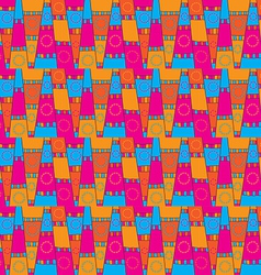 Abstract seamless graphic pattern vector image