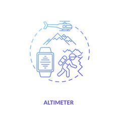 Altimeter concept icon vector