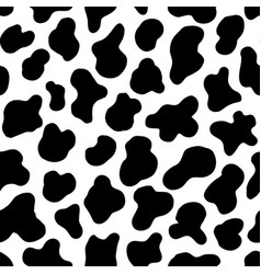 animal seamless pattern cow hide holstein cattle vector image
