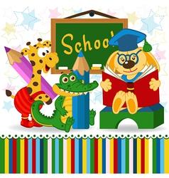 animals in school vector image