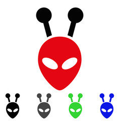 antenna alien head flat icon vector image