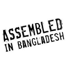 Assembled in bangladesh rubber stamp vector