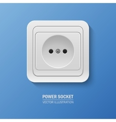 Background with realistic power socket vector