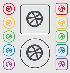 Basketball icon sign symbol on the Round and vector image