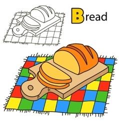 Bread Coloring book page vector image