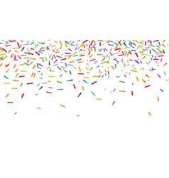 Bright colorful confetti background vector