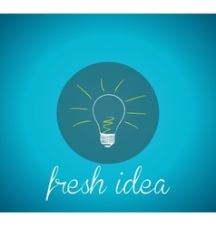 Bulb light fresh idea vector