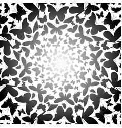 butterflies background swirl with gradient vector image