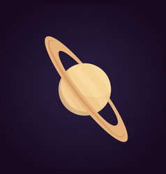 cartoon saturn planet isolated vector image
