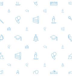 celebration icons pattern seamless white vector image