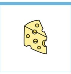 Cheese icon vector