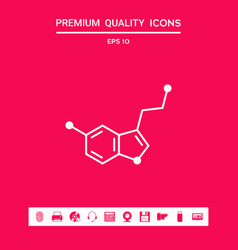 Chemical formula icon serotonin graphic vector