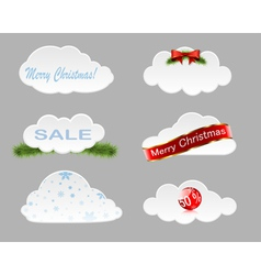 Christmas clouds vector image