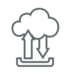 Cloud upload download flat icon sign logo vector