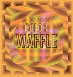 Colored waffles one after the other vector