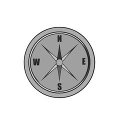 Compass icon black monochrome style vector image