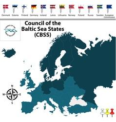 Council baltic sea states vector