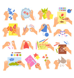 Creative kids set vector