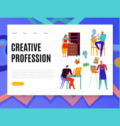 creative professions web banner vector image