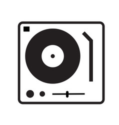 Disk jockey turntable icon on white background vector