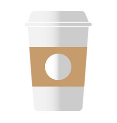 Disposable coffee cup icon on white background vector