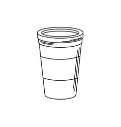 drinks disposable paper cup for takeaway line vector image
