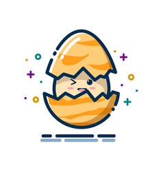 egg hatch with a smile expression vector image