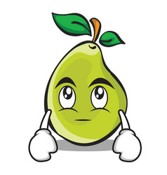 eye roll pear character cartoon vector image