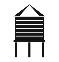 farm water tower icon simple style vector image