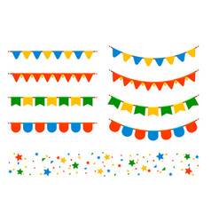Flags and garlands vector